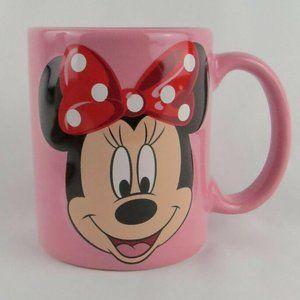 Drinking Mug Disney Minnie Mouse Ceramic Mug Pink